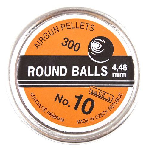 śrut, stalowe kulki nr 10, 300 sztuk, kaliber 4,46 mm