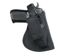 Kabura boczna na broń Glock 17 z magazynkiem, prawa strona