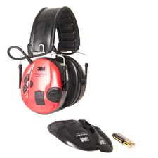 Ochronnik słuchu Peltor SportTac Shooting czerwono-czarne