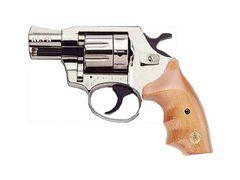 Rewolwer typu flobert Alfa 620, nikiel, drewno, kaliber 6mm