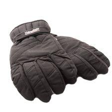 Czarne rękawice myśliwskie