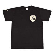 Koszulka męska z krótkim rękawem, kolor czarny, złote logo