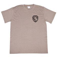 Koszulka męska z krótkim rękawem, kolor szary, czarne logo