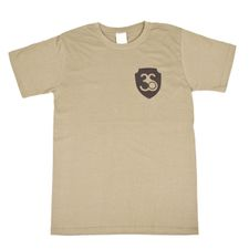 Koszulka z krótkim rękawem, kolor oliwkowy, czarne logo