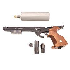 Pistolet pneumatyczy Alfa Sport CO2 z amortyzatorem, kaliber 4,5 mm, czarny