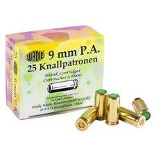Naboje alarmowe pistolet Wadie 9 mm P.A.K., 25 sztuk