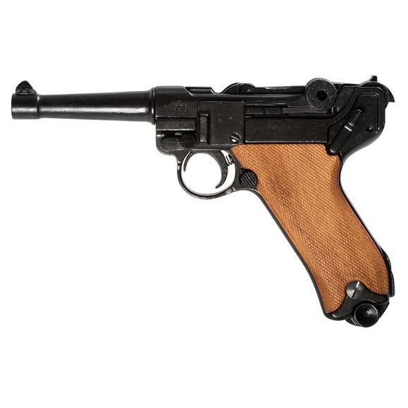 Replika pistolet Parabellum Luger P08, Nemecko, drewno