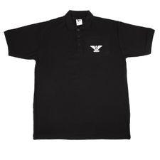 Koszulka z kołnierzykiem Heavy AFG orlica, kolor czarny